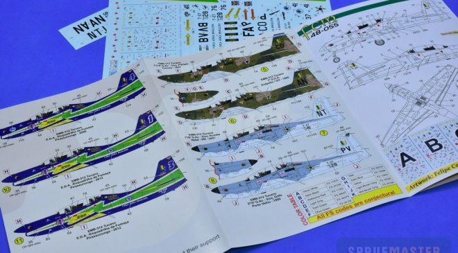 Lançamento: 1/48 EMB-312 Tucano FCM Decalques #48055