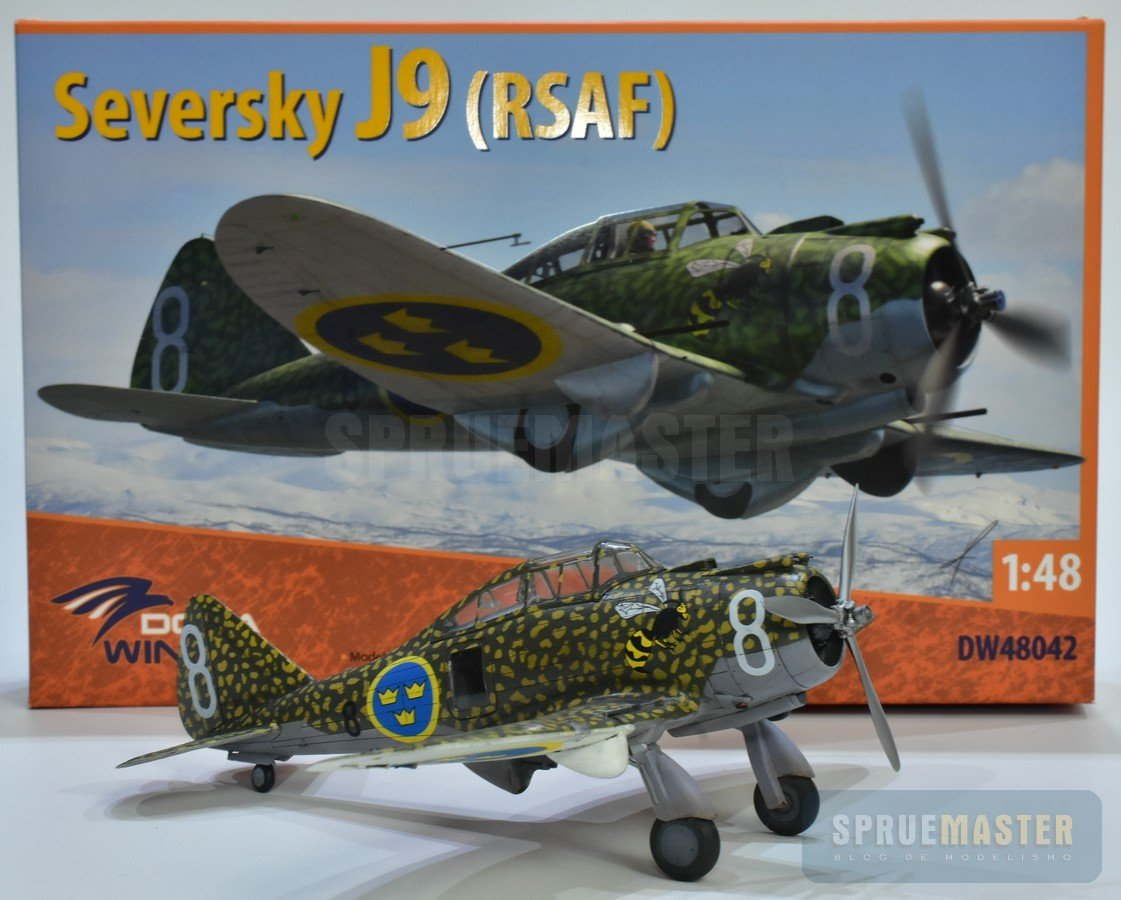 Seversky J9, 1/48, Dora Wings, P35 P-35, J-9